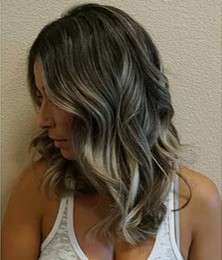 Blonde Highlights in Dark Hair